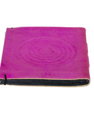 Fuschia-Embossed-Leather-Notebook_back-1