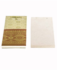 SILK DAMASK NOTEPAD cover and pages