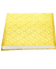 Yellow Silk Jacquard notebook_back