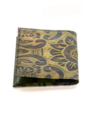 Green leather passport cover_ Back