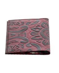 Berry leather passport cover_ Back