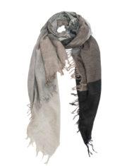 Black:Grey color block scarf_1