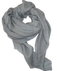 icy heathered grey cashmere scarf 2