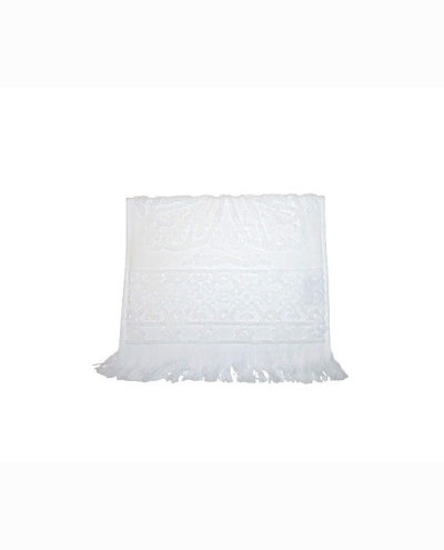 White Jacquard face towel_3
