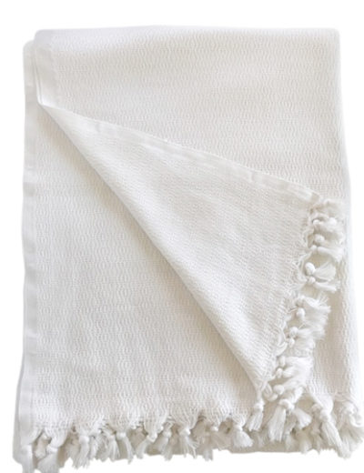 Bamboo throw blanket_white