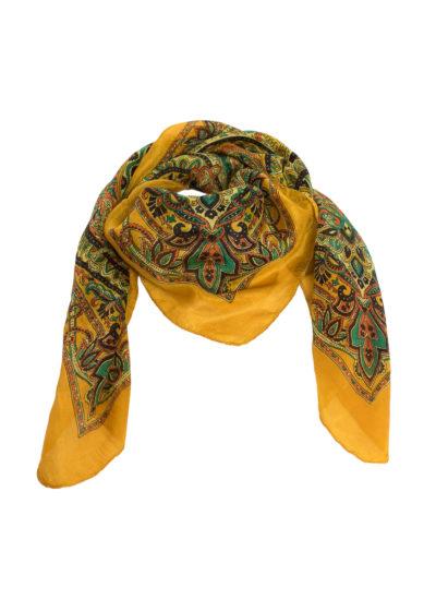 Butterscotch paisley silk scarf