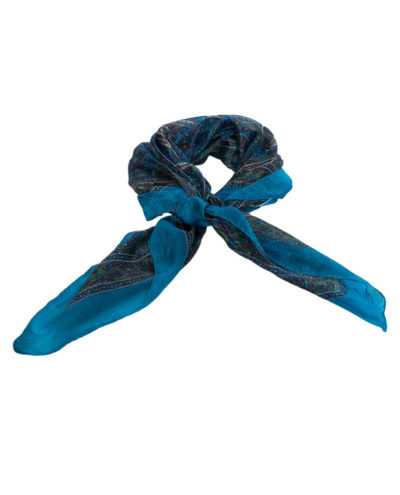 Aegean Plum Silk Scarf